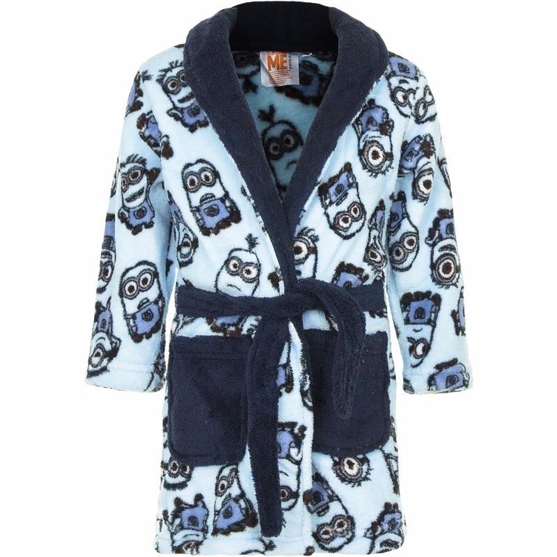 3b2bc76a873 Minions fleece badjas blauw voor jongens bestellen - Shoppartners ...