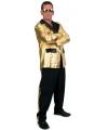 2 delig kostuum voor heren zwart/goud