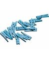 20 mini knijpers blauw