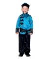 Aziatisch jongens kostuum blauw