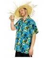 Blauw hawai shirt met palmbomen
