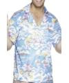 Blauw hawaii shirt