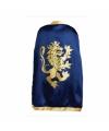 Blauwe kinder cape met leeuw op de rug
