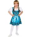 Oktoberfest Blauwe Tirolerjurk voor meisjes