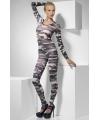 Bodysuit met camouflage print voor dames