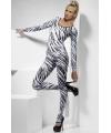 Bodysuit met zebra print voor dames