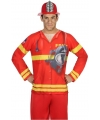Brandweer verkleed shirt voor heren