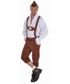 Oktoberfest Bruine lederhosen voor heren