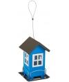 Buiten vogelvoederhuisje silo blauw 19 cm