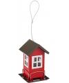 Buiten vogelvoederhuisje silo rood 19 cm