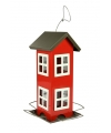 Buiten vogelvoederhuisje silo rood 26 cm