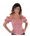 Cowboy blouse off shoulder dames rode ruit