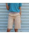 Dames bermuda shorts zandkleurig