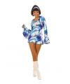 Dames hippie jurkje blauw