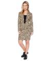 Dames mantelpakje met luipaard print