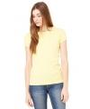 Dames t-shirt ronde hals geel