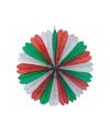 Decoratie waaier rood/wit/groen