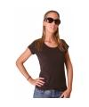 Donkerbruin dames t-shirt Bella