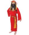 Drie koningen kostuum rood voor kids