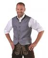 Oktoberfest Duitse klederdracht vest grijs