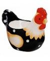 Eierdop zwarte kip 5 cm