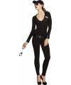 FBI flirt kostuum voor dames met bodysuit