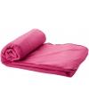 Fleece deken roze 150 x 120 cm