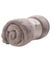 Fleece plaid 150 x 200 cm grijs