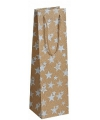 Flessen kadotasje goud glitter met sterren 11 x 36 cm