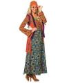 Gekleurd hippie pak voor vrouwen