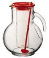 Glazen schenkkan met koelfunctie rood