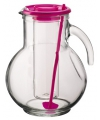 Glazen schenkkan met koelfunctie roze