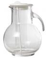 Glazen schenkkan met koelfunctie wit