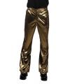 Glimmende gouden disco broek