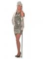Glitter jurkje zilver met pailletten