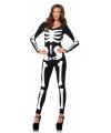Glow in the dark skelet catsuit