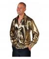 Goud metallic overhemd voor heren
