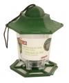 Groen vogelvoederhuisje silo voor vogelvoer