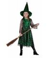 Groene heksen jurk kinderen