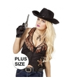 Toppers Grote maat cowboy vest voor dames