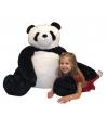 Grote pluche panda knuffelbeer