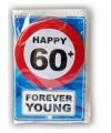 Happy Birthday kaart met button 60 jaar