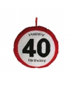 Happy Birthday kussen 40 jaar