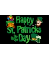 Happy St. Patricks day vlag
