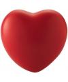 Hartvormig stressballetje rood
