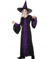 Heksen kinder kostuum zwart/paars