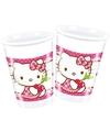 Hello Kitty bekers 8 stuks