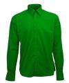 Heren overhemd groen lange mouw