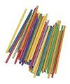 Hobby materiaal gekleurde knutselhoutjes 10 cm
