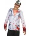Horror dokter verkleed shirt voor heren